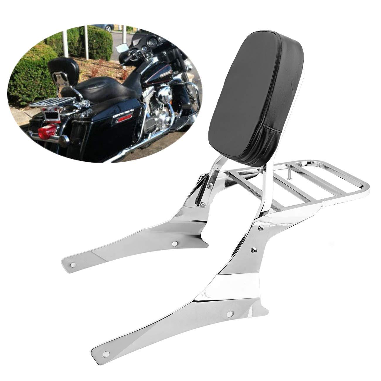 Samger Motorcycle Passenger Sissy Bar Luggage Rear Rack Backrest