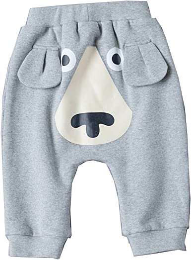 Baby Cotton Pants Cartoon Dog Pattern Spring Autumn Trousers