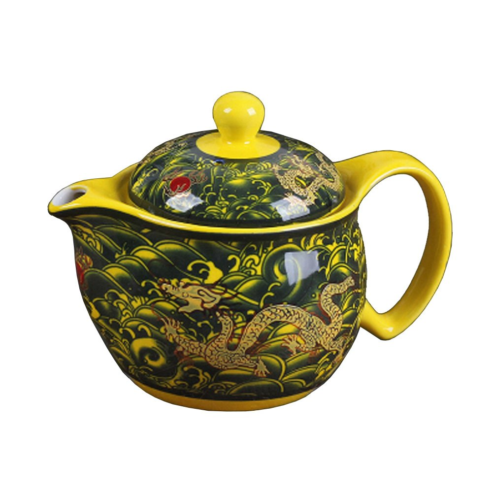 Blancho Creative Tea Kettle With Tea Infuser Ceramic Tea pot,dragon Blancho Bedding