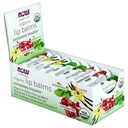 NOW Foods Completely Kissable Lip Balms, Assorted, 24 Count