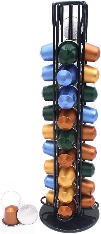 XIAPIA Dispensador Capsulas Nespresso,Porta Capsulas Nespresso 40 Soporte Capsules Compatibles Cápsulas para Cafetera 360 ° Giratorio: Amazon.es: Hogar
