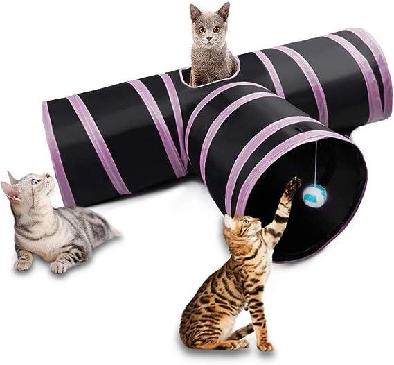 JZTRADING Juguetes para Gatos Juguete Gato Túnel del Gato Cosas ...