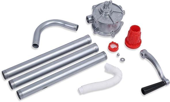 Dolity Rotary Barrel Pump Aluminum Alloy Hand Crank Oil Barrel Drum Pump Pumping Petrol Diesel Fuel for Petroleum Products
