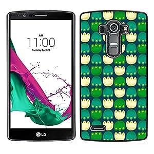 LECELL--Funda protectora / Cubierta / Piel For LG G4 -- Patas Pc Juego Modelo verde --