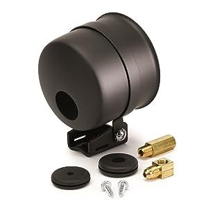 "Auto Meter 3-3/8"" 5204 Solutions Gauge Mount, 3 3/8"", Pedestal W/Black Cup"