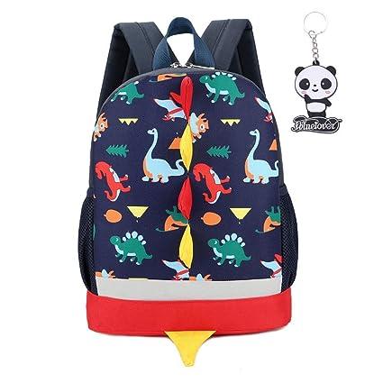 Mochila para niños con diseño de animales de dinosaurio en 3D, bolsa de escuela, guardería, mochila de viaje para niños, bolsa de hombro con doble ...