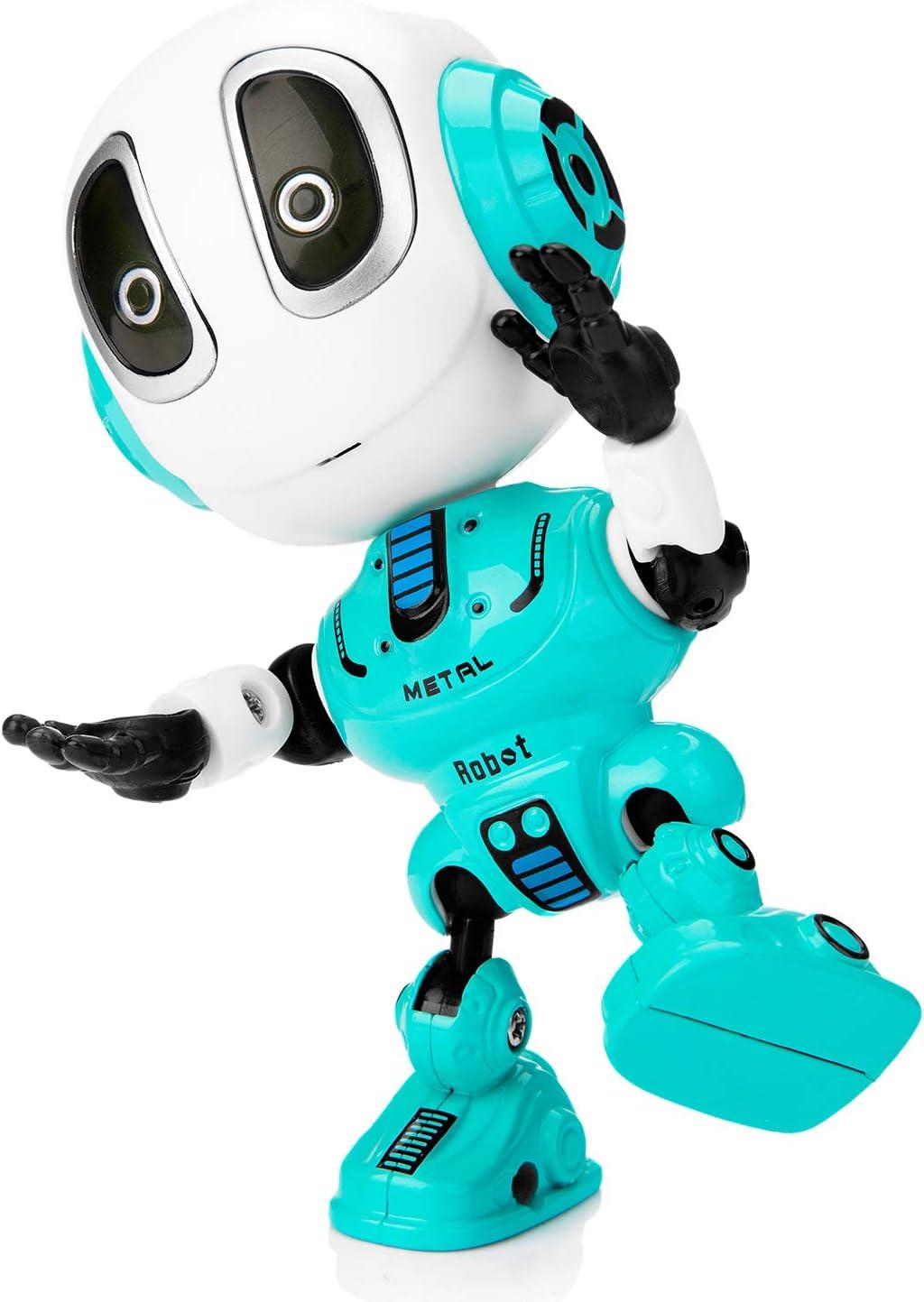 TDORA Talking Robot Toys for Kids,Educational Smart Learning Stem Toys Cool Sounds Touch Sensor LED Light Robot Interactive Game Smart Toys for Kids