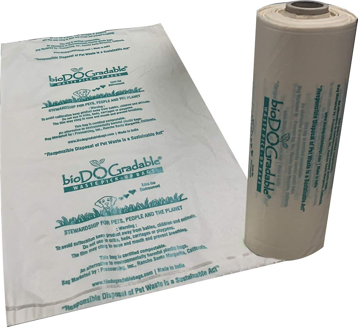 Amazon.com: bioDOGradable - Bolsas de basura para perro, no ...