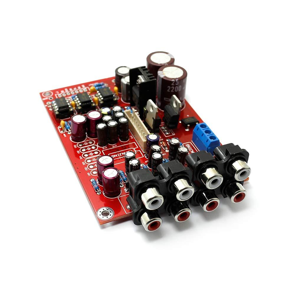 51 M62446 Pre Amp Board Volume Remote Control Integrated Circuit Ne5532 Dual Opamp Ce Distribution Controller 6 Channel Industrial Scientific