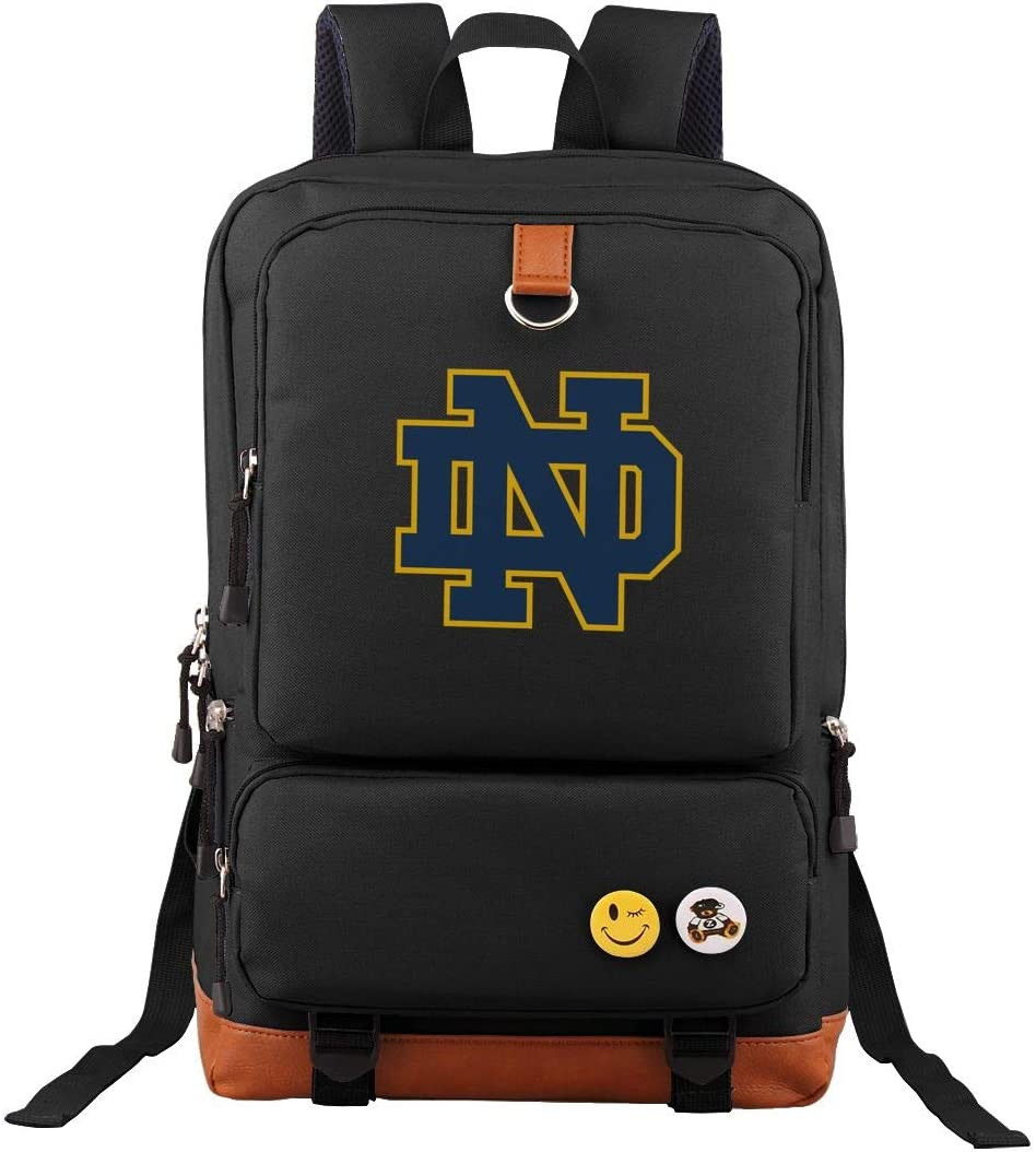 Notre_Dame Students Travel Laptop Backpack Business Anti Theft Slim Durable Laptops Travel Computer Bag Black
