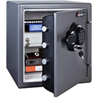 SentrySafe SFW123GDC Fireproof Safe and Waterproof Safe with Digital Keypad 1.23 Cubic Feet, Gun Metal Grey - New