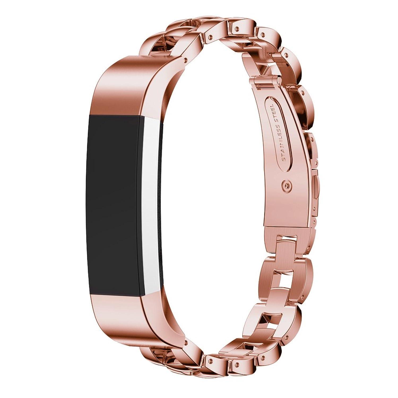 ステンレススチール交換リストバンドバンドストラップfor Fitbit ALTA Smart Watch by d.b. Moodピンク  B01KFG53UA