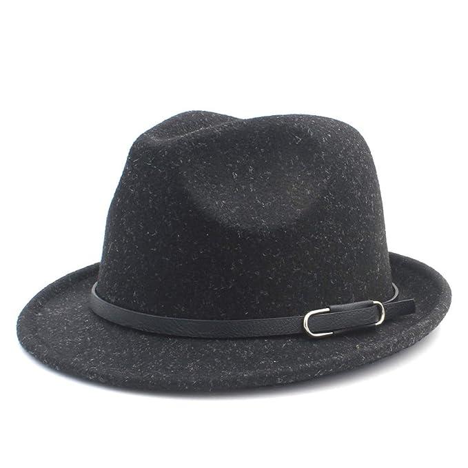 eab27c5ce5b ANDERDM Wool Women Men Fedora Hat for Winter Autumn Elegant Lady ...