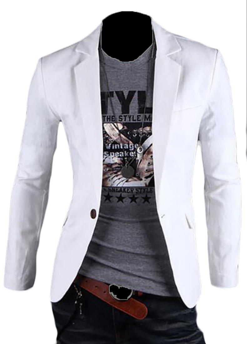 LD Mens Classic Business Trim Fit Lightweight Blazer Jacket