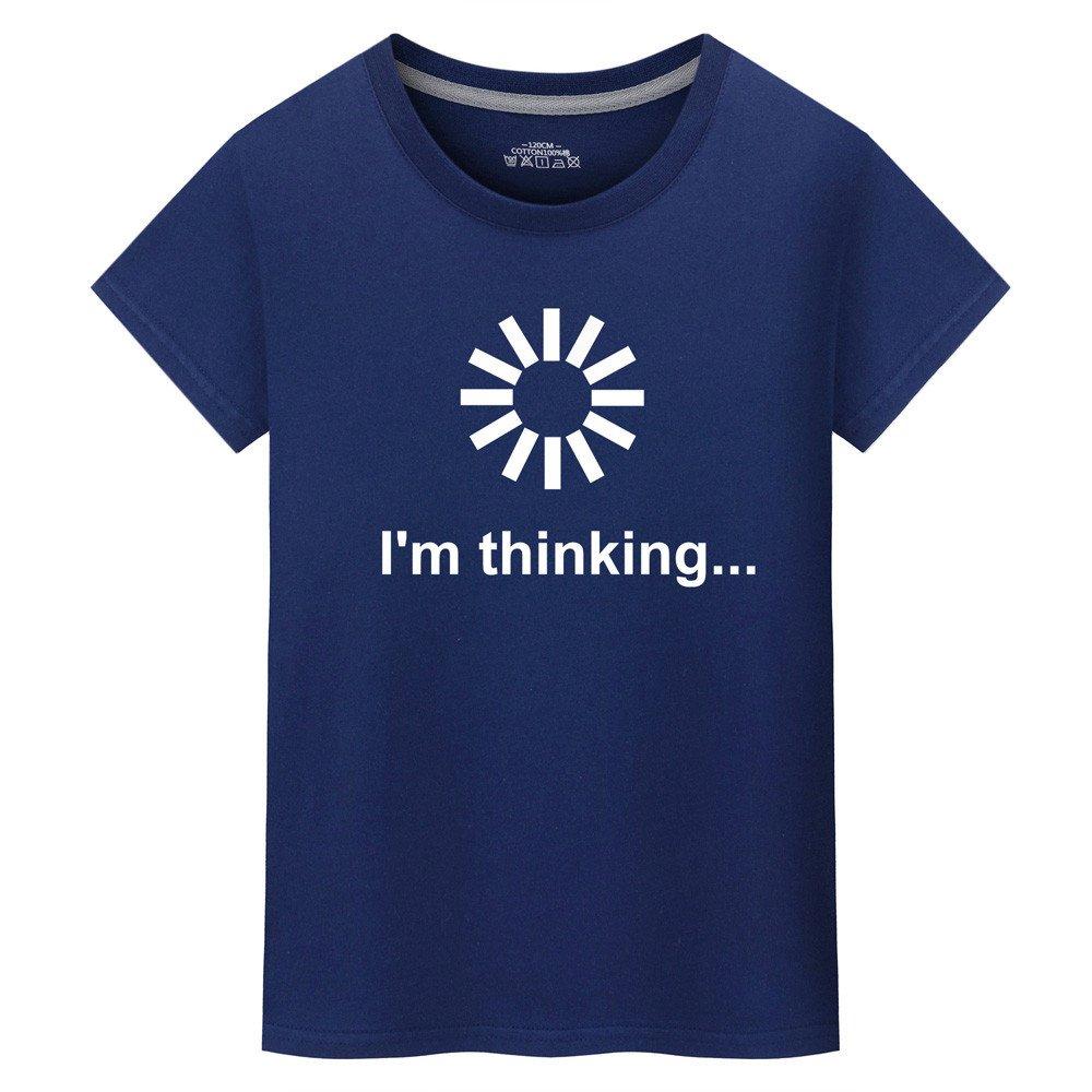 Mens T Shirt Loading I/'m Thinking Print Tee Shirt Teen Boy Sport Fitness Blouse Zulmaliu Zulmuliu