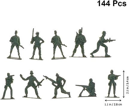 Toyvian Mini Juguetes De Plástico para Soldados Militares Set Ejército Hombres Figuras Accesorios 144 Piezas (Estilos Mixtos): Amazon.es: Juguetes y juegos
