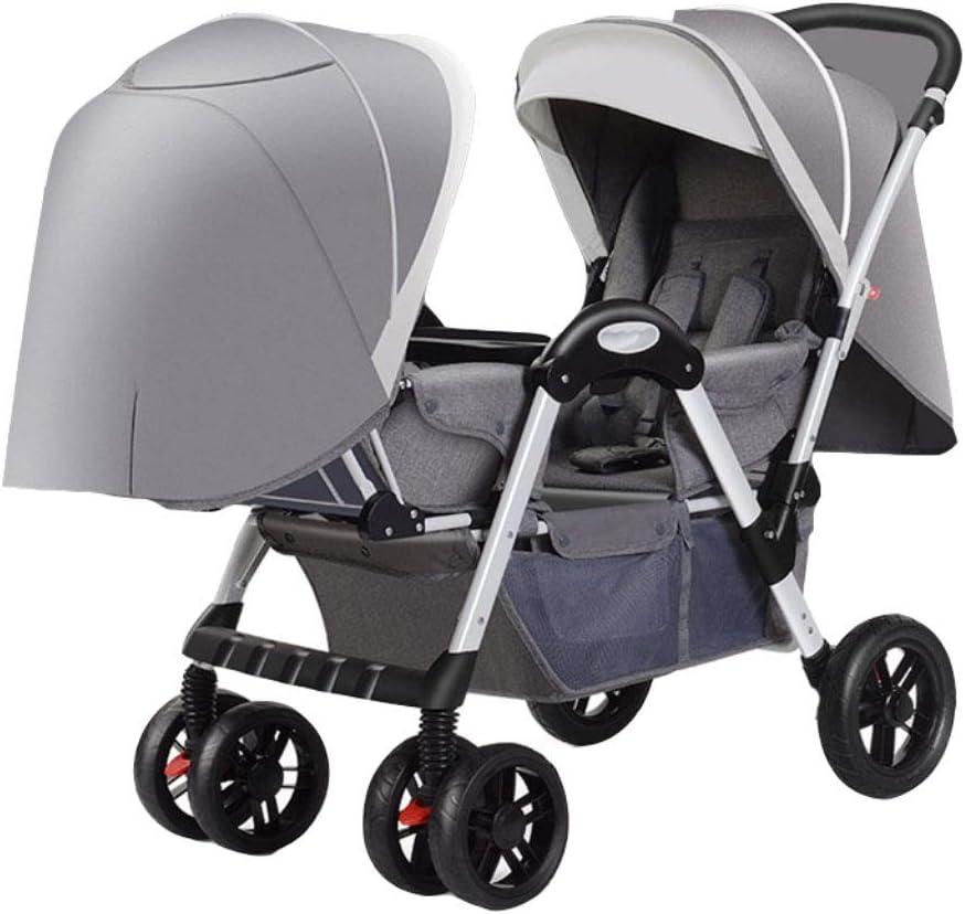 El Cochecito de bebé de los Gemelos se Puede sentar y Plegar. Carro Cara a Cara de Babys. Reclinación Doble Doble Se Puede sentar y Plegar (Color : C)