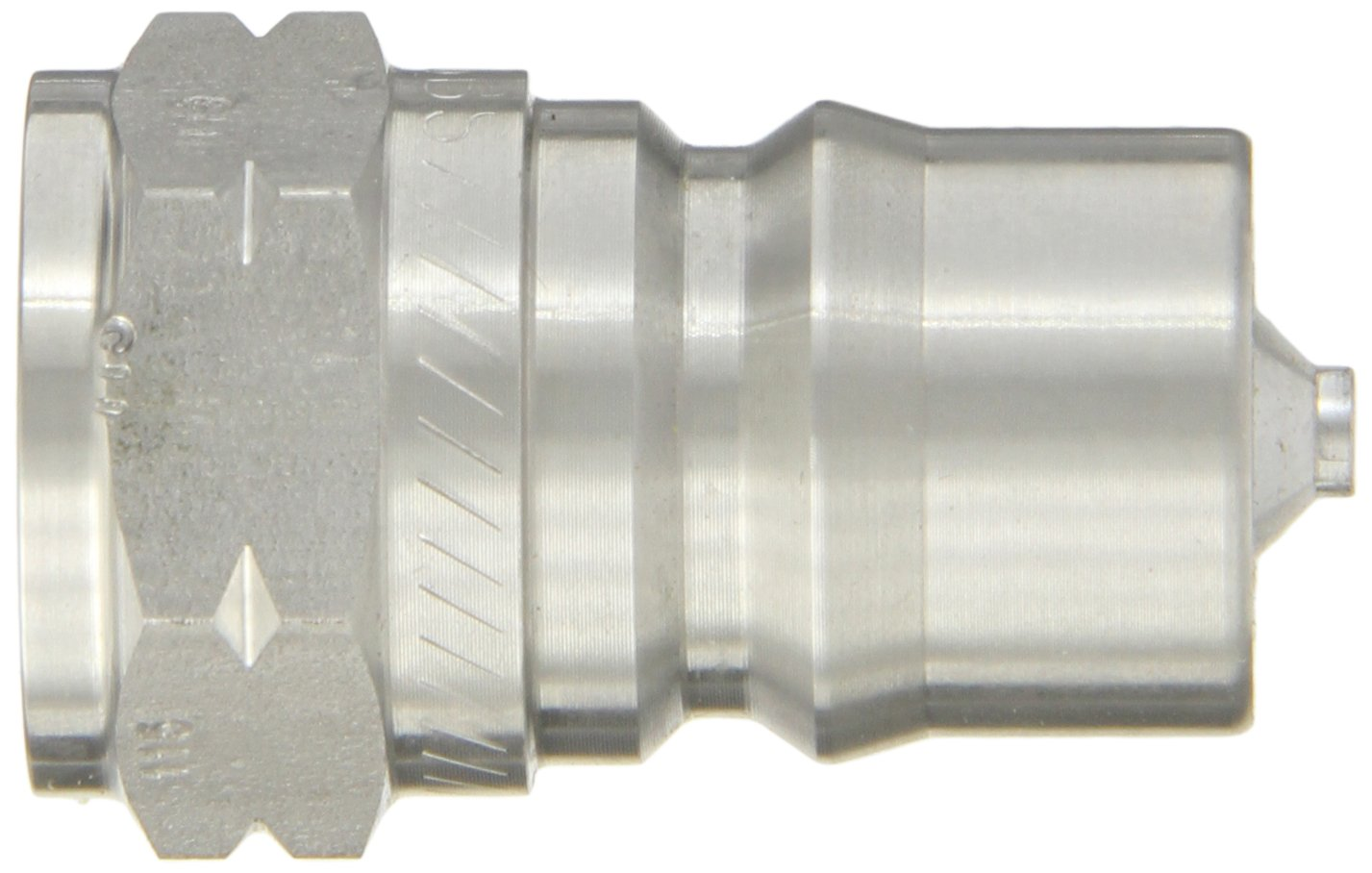 Eaton Hansen LL4KP26BS115 Stainless Steel 303 ISO-B Interchange Hydraulic Fitting 1//2-14 BSPP Female Plug with Valve PTFE Seal 1//2-14 BSPP Female 1//2 Body 1//2 Body