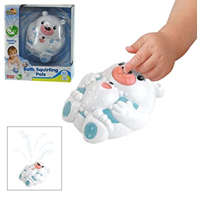 Happy Kid Toy Group Squirting Polar Bear Bath Pal: Toys & Games