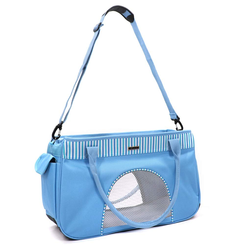 A 50CMX19CNX30CM A 50CMX19CNX30CM Byx- Pet Bag Summer Breathable Bag Dog Out Carrying Bag Cat Handbag Bag Bag Cat Bag Three Sides Large Network MouthPet Backpack (color   A, Size   50CMX19CNX30CM)