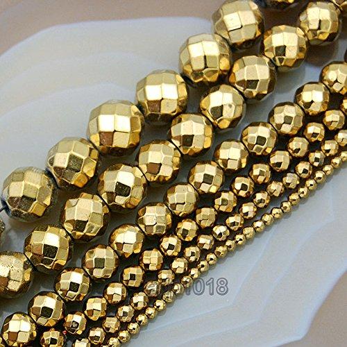 eted Hematite Gemstone Round Beads 16