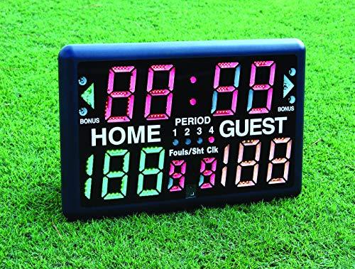 Trigon Sports Battery Operated Multi-Sport Scoreboard & Timer Black, 24x 10x 16