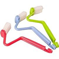 Cepillo de limpieza para inodoro, de plástico, curvado