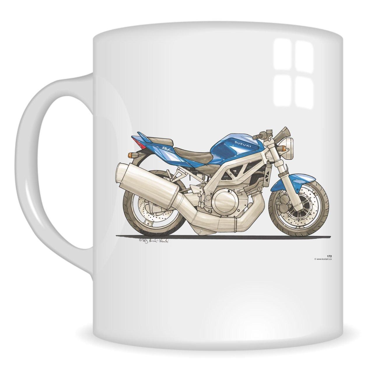 Blue White Suzuki Gladius SFV 650 Coffee Mug