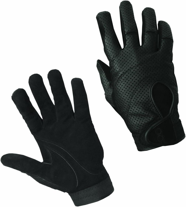 Bob Allen Black Ventilated Leather Gloves