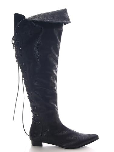 39af31f8bb50fe Damen Stiefel kniehoch ca. 59 cm Schwarz   60807-11 (36)  Amazon.de ...