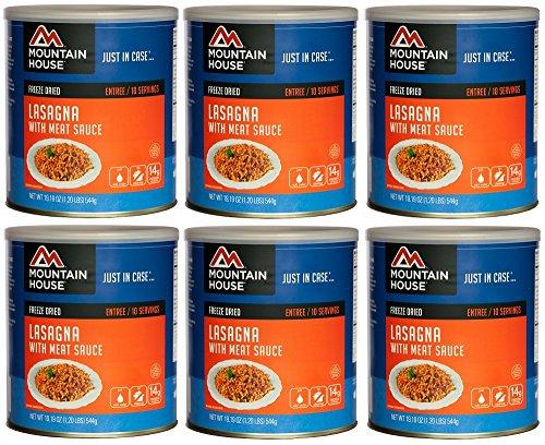Mountain House Lasagna w/ Sauce #10 Can Freeze Dried Food...