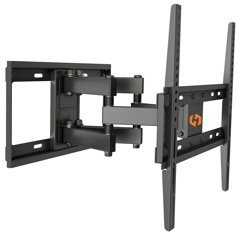 Husky Mounts Full Motion TV Wall Mount Fits Most 32-55 Inch LED LCD Flat Screen Up to VESA 400X400 Tilt Swivel Articulating TV Bracket