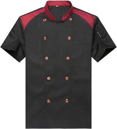 Camisa de Cocinero Cocina Uniforme Manga Corta: Amazon.es: Ropa y accesorios