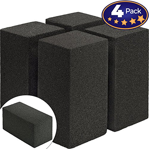 Commercial Grade Grill Cleaning Brick Bulk 4 Pack by Avant Grub. Pumice Stone Cleaner Tool Cleans and Sanitizes Restaurant Flat Top Grills or Griddles Effectively Without Harsh Chemicals or (Commercial Outdoor Brick)