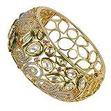 MUCHMORE Amazing Style Kundan & Cz Gold Tone Diamond Swarovski Elements Indian Bangles Traditional Jewelry (2.4)