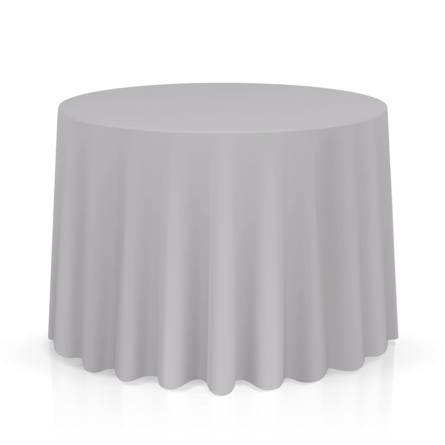 Lanns Linens 70 Round Premium Tablecloth for Wedding//Banquet//Restaurant Polyester Fabric Table Cloth Black