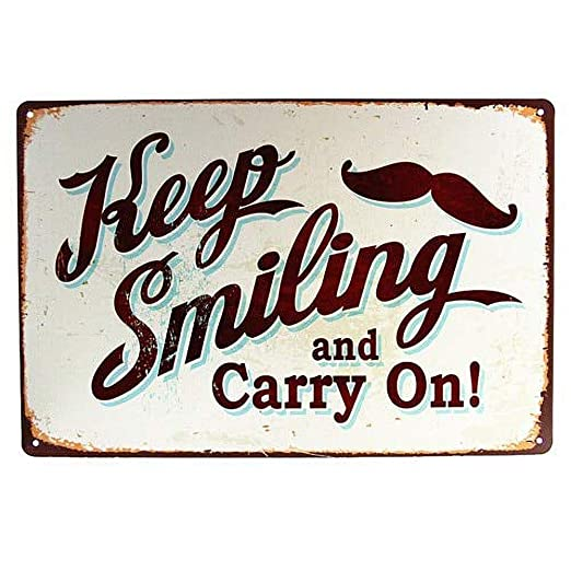 HALEY GAINES Keep Smiling & Carry On Placa Cartel Póster de ...