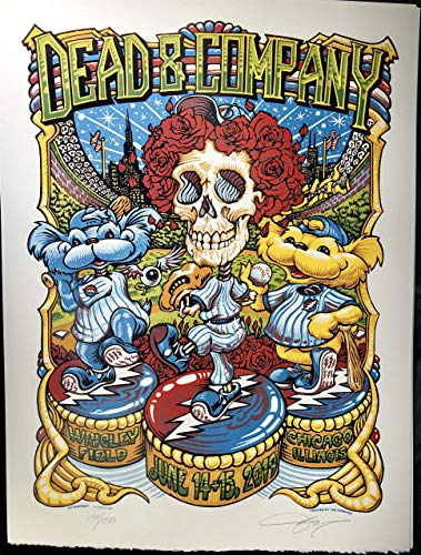 Dead & Company wrigley field Poster 2019 tour grateful dead limited edition aj masthay art