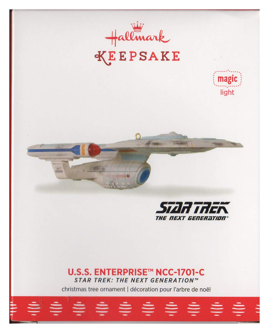 Amazon.com: SDCC NYCC 2017 U.S.S. Enterprise NCC-1701-C Star Trek: The next  Generation Hallmark Ornament: Home & Kitchen