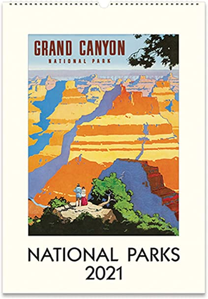 Cavallini 2021 Desk Calendar Vintage National Parks Posters Cal21 36 Amazon Co Uk Office Products