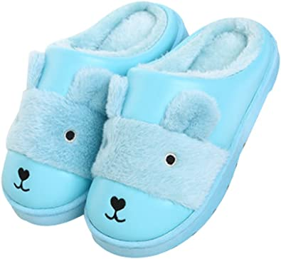 Cwait Winter Warm Kids Indoor Outdoor Slipper Shoes Cute House Shoes Boys Girls