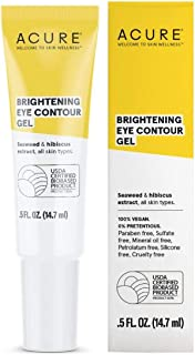 product image for ACURE Brightening Eye Contour Gel | 100% Vegan | For A Brighter Appearance | Seaweed & Hibiscus Extract - Rejuvenates, Hydrates & Soothes | All Skin Types | 0.5 Fl Oz
