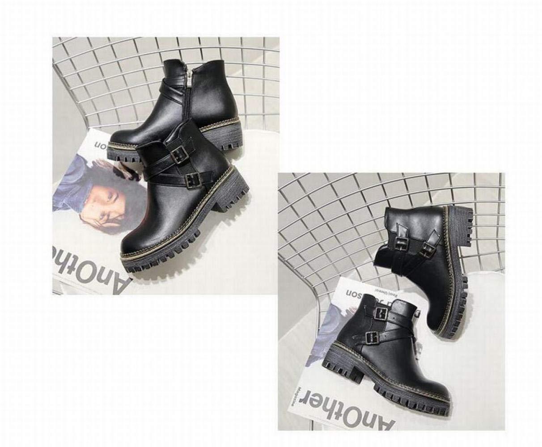 ZHRUI Damenschuhe - Britischer Retro mit dicken, dicken, dicken, kurzen Stiefeln dick mit Martinstiefeln   34-43 (Farbe   Schwarz, Größe   41) 911e8f