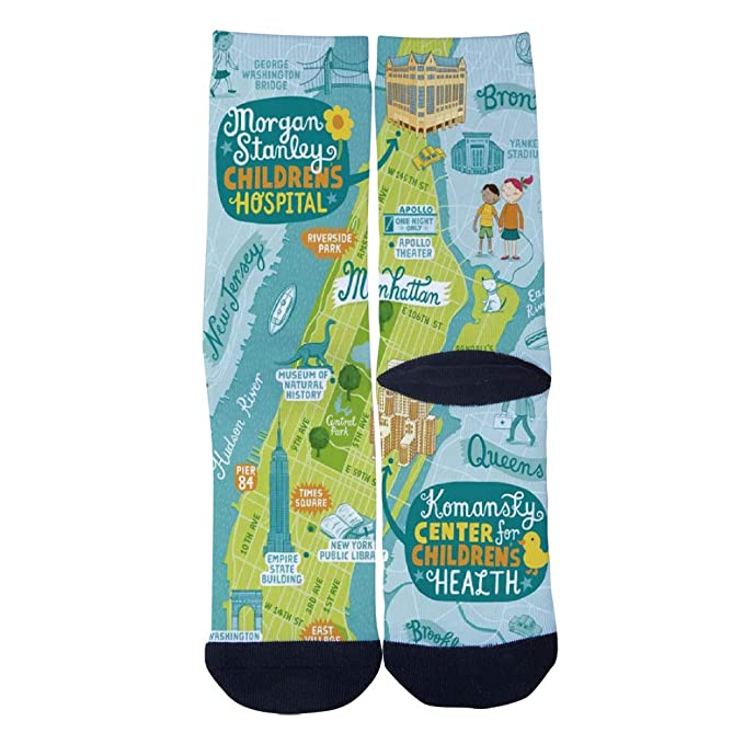 Customized New York Presbyterian map Socks Men's Women's Socks ... on