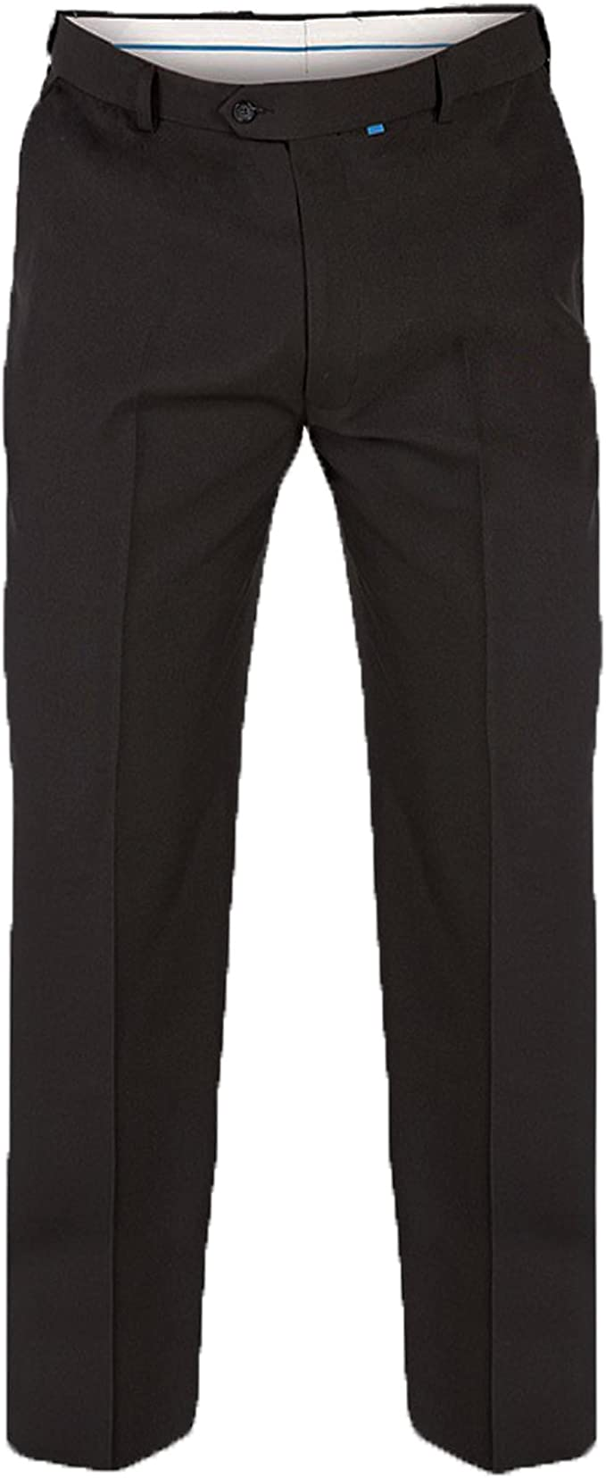 In Black In Waist 42 To 70 inches Inside 29//31//33 D555 Mens Formal Flexi Waist Trousers Max