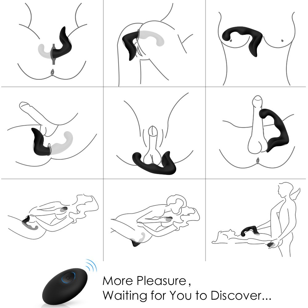 PHANXY 9 Speeds Prostate Massager Rechargeable G Spot Vibrator Waterproof Anal Sex Toy for Men, Women and Couples, Black by PHANXY (Image #3)
