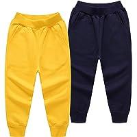 ALALIMINI Pantalones de chándal unisex para niños pequeños (1 paquete de 2 unidades)