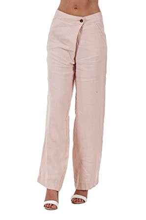 a8e86ac4be Ex Famous Store Ladies Linen Trousers Holiday Womens Beach Summer Casual  Pants