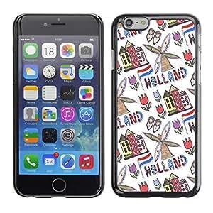 "Print Motif Coque de protection Case Cover // V00002070 molino de viento de Holanda Países // Apple iPhone 6 6S 6G 4.7"""