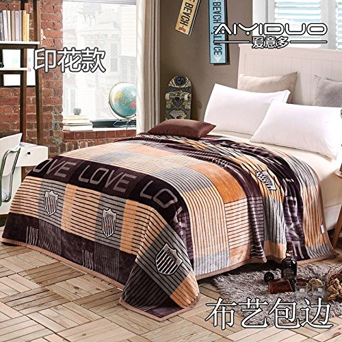 Znzbzt small blanket afternoon nap office single cute mini cover and small blankets winter student adult thick warm ,180x200cm [thick package of health, love accompanying